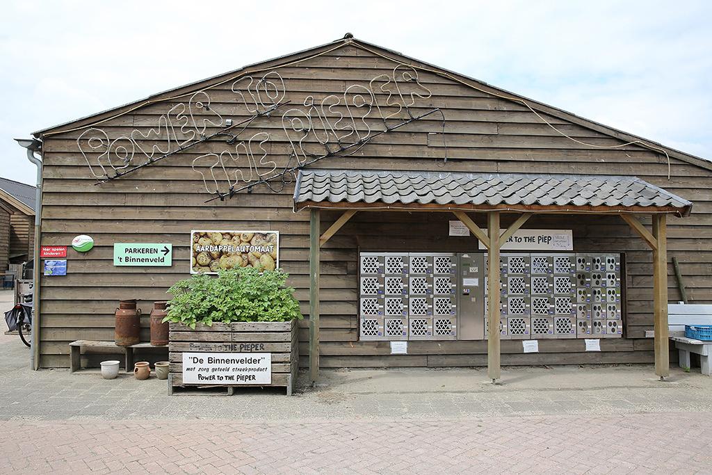 Aardappelen in boerderijwinkel